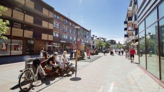 Gågatan, Bodens centrum.  Foto Bodens kommun/KOMM