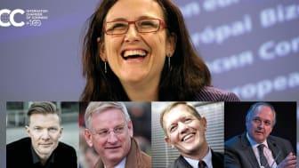 """Cecilia Malmström prisas för """"förtjänstfulla insatser till gagn för näringslivet"""" (foto: EU-kommissionen)"""