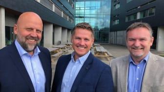 Fra venstre: Frode Ravndal Evensen, Technogarden, Nils Kjetil Sande og Audun Grønnestad i Technical Resources AS