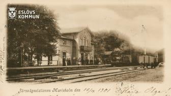 Vykort från Marieholm 1901. Källa: digitaltmuseum.se/Järnvägsmuseet