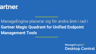 Desktop Central i Gartner Magic Quadrant för Unified Endpoint Management