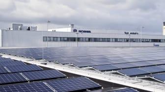 motorproducent Scania har nu gennemført overgangen til fossilfri produktion på sine ti største produktionsanlæg over hele verden
