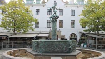 Vasabrunnen på Larmtorget i centrala Kalmar