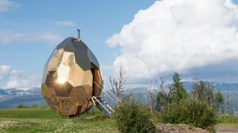 Riksbyggens Solar Egg - Svensk arkitektur och bastukultur till Paris