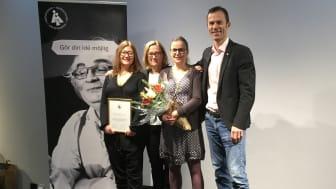 Minds Maria Ljungström (volontärsamordnare), Marie-Louise Söderberg (fd. verksamhetsansvarig), Johanna Nordin (verksamhetsansvarig) samt Carl von Essen (generalsekreterare).