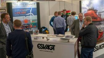 Stor interesse for ESVAGT på WindEnergy-messe Hamborg