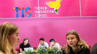 85 elever går första årskursen på Thoren Innovation School Solna. Skollokalerna är ljusa, luftiga och fyllda av välkomnande och kreativa lärytor.
