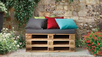 Kreative pallemøbler hitter på terrassen
