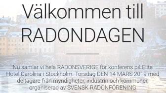 Nu har registrering till Radondagen den 14 mars öppen - Anmäl dig här!