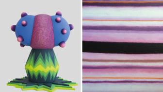 I utställningarna Wild Flower och Ömsom visas färgstarka målningar och skulpturer inspirerade av naturen och växtriket.
