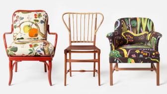 Utställningen Chairs by Josef Frank öppnar den 9 februari på Strandvägen 5 i Stockholm men invigs redan på kvällen den 8 februari genom en digital livesändning som sänds på svenskttenn.se