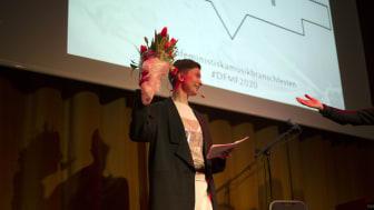 Sabina Wärme under galan 2020. Foto: Sofia Aedo Zahou.