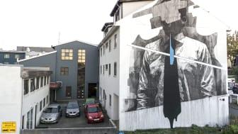 INOn muraali Reykjavikissa Islannissa
