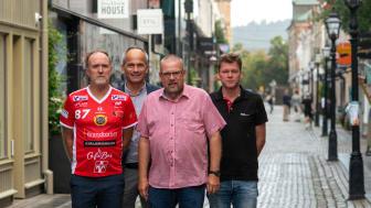 Dan Nordlöf, JIK, Marcus Axelsson, Destination Jönköping, Roger Ödebrink och Stefan Franzén, Smålands Innebandyförbund