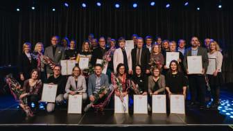 2017 års mötesambassadörer som tog emot diplom på ambassadörslunchen. Foto: Henrik Mill
