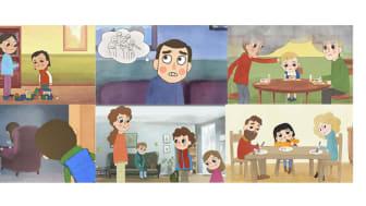 Nka lanserar tecknade filmer som handlar om barn som anhöriga i familjer med psykisk ohälsa