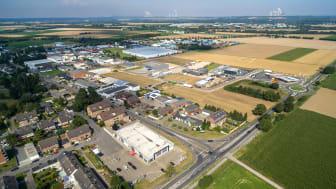 Luftbild vom Gewerbegebiet in Elsdorf. (Quelle: Stadt Elsdorf)