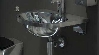 Extra stort tvättställ för omgivningar som kräver produkter med hög hållfasthet