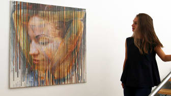 Galerie Hotel Leipziger Hof - Blick in die Ausstellung von Matthias Klemm