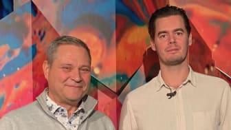Workman Events grundare Hansi Sundström tillsammans med Linus Lundin, projektledare. Workman Event samarbetar med Scandinavian XPO.