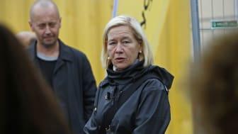 Anneli Hulthén har sparkat igång bygget av Göteborgs nya saluhall