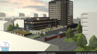 Kvarteret Hägern i Luleå. Byggherre: Galären. Foto/Bild: Tirsén & Aili Arkitekter