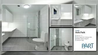 Part levererar 117 badrum till projektet Hofs Park i Växjö.