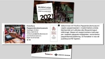 Årets Arbetslivsmuseum (Frövifors Pappersbruksmuseum) har en framträdande roll i arbetslivsmuseernas museigudie 2021