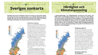 Nya faktablad om Zonkartan från Svensk Trädgård