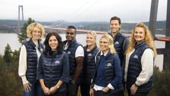 Bakre raden från vänster: Cecilia Lideskog, Andreas Olsson, Maria Lundkvist, Marcus Strömsten. Främre raden: Louise Nordlander, Mia Karlsson och Katrin Larsson.