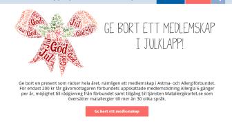 Ny hemsida Astma- och Allergiförbundet