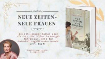 Pressemitteilung: Heidi Rehn mit neuem biografischem Roman über die Schriftstellerin Vicki Baum