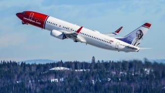 Solid passasjervekst og kapasitetsøkning for Norwegian i desember