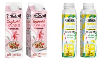 Nu erbjuder Lindahls en läskande drickkvarg med en frisk citronsmak, och passar också på att utöka sortimentet av yoghurtkvarg.