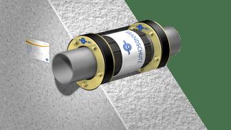 Für die Abschottung von Leitungen bei speziellen Anwendungen, wie zum Beispiel bei einem Sprinklertank, eignet sich die Curaflam® Kombination 2 x A BSHN