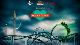 Gröna Lund tävlar ut första åket i Monster med Musikhjälpen