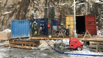 Vid provborrningen i Högsbo undersöks berggrunden ner till en kilometer.