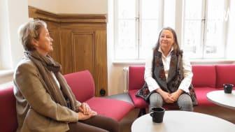 Anita Afzelius-Alm SPF Seniorerna och Kristina Nilsson Lindström Skara kommun i samtal om livskvalitet.