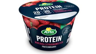 Arla Protein mansikka-sitruunamelissa proteiinirahka 200 g