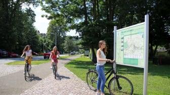 Mulderadweg bei Leisnig - Hinweistafel
