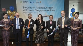 Inaugural for the new Stockholm-Singapore route at Stockholm Arlanda today