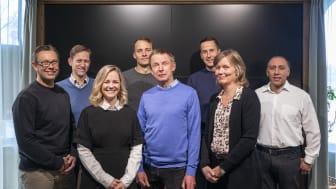 Investerarrådet fv Roger Pihl, Thomas Karlsson, Johanna Tömmervik, Mattias Stjernström, Claes Mellgren, Andreas Komada, Anna-Karin Stenstrand och Johny Kanaan. Några investerare saknas i bild.