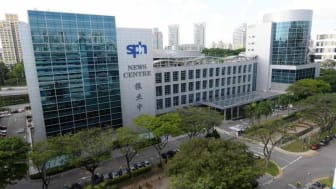 Awesome photo of the SPH News Centre from allsingaporestuff.com. SPH hopes to remain awesome. Meantime, spokespeople need to adjust to the changing media landscape.