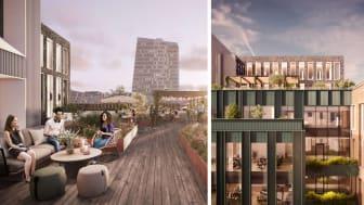 Hyllies största grönskande takterrass ska locka till utomhusarbete, avkoppling och välbefinnande.