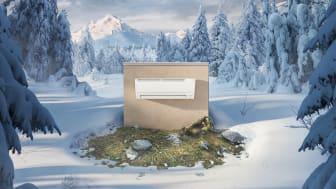 IGURU er den nye varmepumpen fra Mitsubishi Electric. Høy varmekapasitet i en kompakt innpakning.