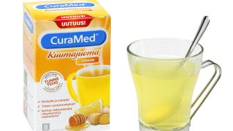 CuraMed-kuumajuomalla ja lakritsinmakuisella kurkkutabletilla helpotusta hengitysteille