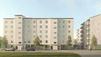 Kvarter Hasseln i Gällivare. Arkitekt Nordmark & Nordmark.