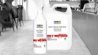 KBM Sani Clean Neutral funkar effektivt på fläckar av vägsalt.