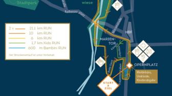 Die längste Distanz in Nürnberg geht über 21,1 km.