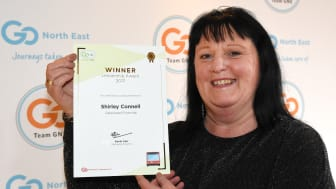 Shirley Connell was awarded the Leadership accolade at the Team GNE Awards